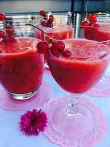 Rhabarber Erdbeer Smoothie